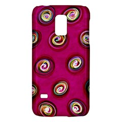 Digitally Painted Abstract Polka Dot Swirls On A Pink Background Galaxy S5 Mini by Nexatart