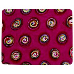 Digitally Painted Abstract Polka Dot Swirls On A Pink Background Jigsaw Puzzle Photo Stand (rectangular) by Nexatart