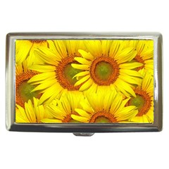 Sunflowers Background Wallpaper Pattern Cigarette Money Cases