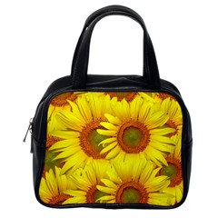 Sunflowers Background Wallpaper Pattern Classic Handbags (one Side) by Nexatart