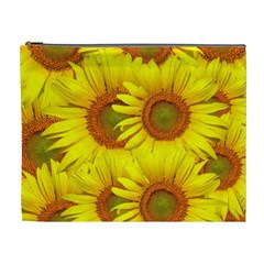 Sunflowers Background Wallpaper Pattern Cosmetic Bag (xl)