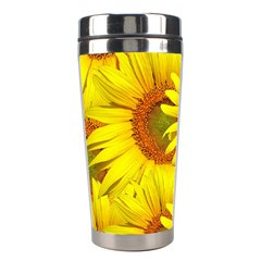 Sunflowers Background Wallpaper Pattern Stainless Steel Travel Tumblers by Nexatart