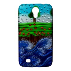 Beaded Landscape Textured Abstract Landscape With Sea Waves In The Foreground And Trees In The Background Samsung Galaxy Mega 6 3  I9200 Hardshell Case