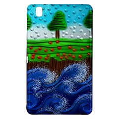 Beaded Landscape Textured Abstract Landscape With Sea Waves In The Foreground And Trees In The Background Samsung Galaxy Tab Pro 8 4 Hardshell Case