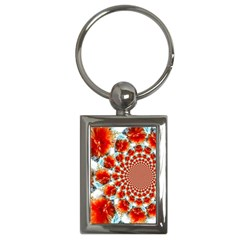 Stylish Background With Flowers Key Chains (rectangle)  by Nexatart