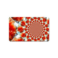 Stylish Background With Flowers Magnet (name Card) by Nexatart
