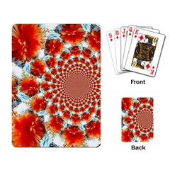 Stylish Background With Flowers Playing Card by Nexatart