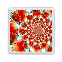 Stylish Background With Flowers Memory Card Reader (square)  by Nexatart