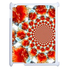Stylish Background With Flowers Apple Ipad 2 Case (white) by Nexatart