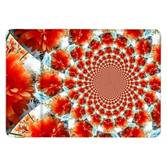 Stylish Background With Flowers Samsung Galaxy Tab 8 9  P7300 Flip Case by Nexatart