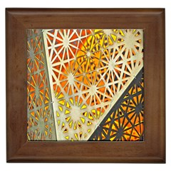 Abstract Starburst Background Wallpaper Of Metal Starburst Decoration With Orange And Yellow Back Framed Tiles by Nexatart