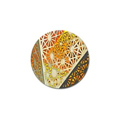 Abstract Starburst Background Wallpaper Of Metal Starburst Decoration With Orange And Yellow Back Golf Ball Marker (10 Pack) by Nexatart