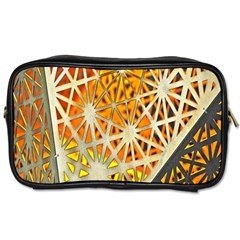 Abstract Starburst Background Wallpaper Of Metal Starburst Decoration With Orange And Yellow Back Toiletries Bags by Nexatart