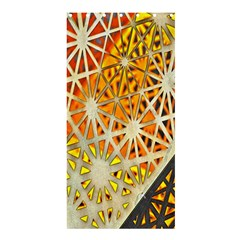 Abstract Starburst Background Wallpaper Of Metal Starburst Decoration With Orange And Yellow Back Shower Curtain 36  X 72  (stall)