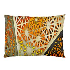 Abstract Starburst Background Wallpaper Of Metal Starburst Decoration With Orange And Yellow Back Pillow Case (two Sides) by Nexatart
