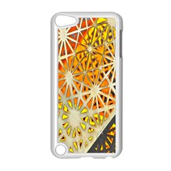 Abstract Starburst Background Wallpaper Of Metal Starburst Decoration With Orange And Yellow Back Apple Ipod Touch 5 Case (white)