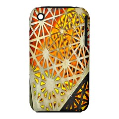 Abstract Starburst Background Wallpaper Of Metal Starburst Decoration With Orange And Yellow Back Iphone 3s/3gs by Nexatart