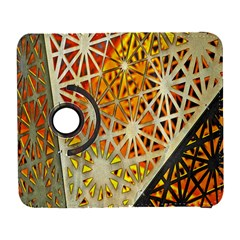 Abstract Starburst Background Wallpaper Of Metal Starburst Decoration With Orange And Yellow Back Galaxy S3 (flip/folio)