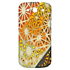 Abstract Starburst Background Wallpaper Of Metal Starburst Decoration With Orange And Yellow Back Samsung Galaxy S3 S Iii Classic Hardshell Back Case