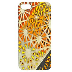 Abstract Starburst Background Wallpaper Of Metal Starburst Decoration With Orange And Yellow Back Apple Iphone 5 Hardshell Case With Stand