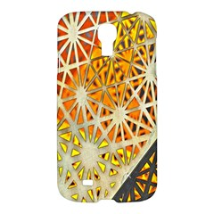 Abstract Starburst Background Wallpaper Of Metal Starburst Decoration With Orange And Yellow Back Samsung Galaxy S4 I9500/i9505 Hardshell Case