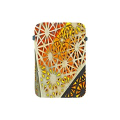 Abstract Starburst Background Wallpaper Of Metal Starburst Decoration With Orange And Yellow Back Apple Ipad Mini Protective Soft Cases by Nexatart