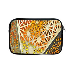 Abstract Starburst Background Wallpaper Of Metal Starburst Decoration With Orange And Yellow Back Apple Ipad Mini Zipper Cases by Nexatart