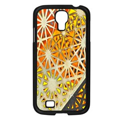 Abstract Starburst Background Wallpaper Of Metal Starburst Decoration With Orange And Yellow Back Samsung Galaxy S4 I9500/ I9505 Case (black)