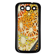 Abstract Starburst Background Wallpaper Of Metal Starburst Decoration With Orange And Yellow Back Samsung Galaxy S3 Back Case (black) by Nexatart