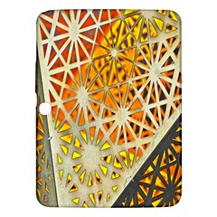 Abstract Starburst Background Wallpaper Of Metal Starburst Decoration With Orange And Yellow Back Samsung Galaxy Tab 3 (10 1 ) P5200 Hardshell Case