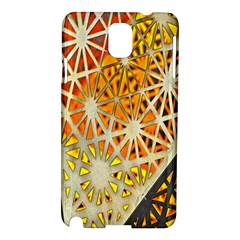 Abstract Starburst Background Wallpaper Of Metal Starburst Decoration With Orange And Yellow Back Samsung Galaxy Note 3 N9005 Hardshell Case