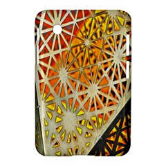 Abstract Starburst Background Wallpaper Of Metal Starburst Decoration With Orange And Yellow Back Samsung Galaxy Tab 2 (7 ) P3100 Hardshell Case
