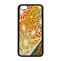 Abstract Starburst Background Wallpaper Of Metal Starburst Decoration With Orange And Yellow Back Apple Iphone 5c Seamless Case (black)