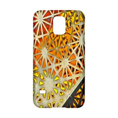 Abstract Starburst Background Wallpaper Of Metal Starburst Decoration With Orange And Yellow Back Samsung Galaxy S5 Hardshell Case