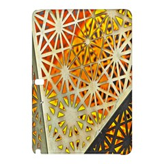 Abstract Starburst Background Wallpaper Of Metal Starburst Decoration With Orange And Yellow Back Samsung Galaxy Tab Pro 12 2 Hardshell Case