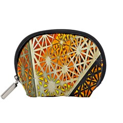 Abstract Starburst Background Wallpaper Of Metal Starburst Decoration With Orange And Yellow Back Accessory Pouches (small)