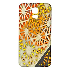 Abstract Starburst Background Wallpaper Of Metal Starburst Decoration With Orange And Yellow Back Samsung Galaxy S5 Back Case (white)