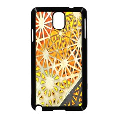 Abstract Starburst Background Wallpaper Of Metal Starburst Decoration With Orange And Yellow Back Samsung Galaxy Note 3 Neo Hardshell Case (black)