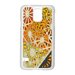 Abstract Starburst Background Wallpaper Of Metal Starburst Decoration With Orange And Yellow Back Samsung Galaxy S5 Case (white)