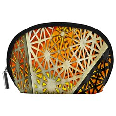 Abstract Starburst Background Wallpaper Of Metal Starburst Decoration With Orange And Yellow Back Accessory Pouches (large)