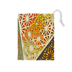 Abstract Starburst Background Wallpaper Of Metal Starburst Decoration With Orange And Yellow Back Drawstring Pouches (medium)