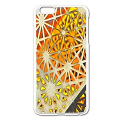 Abstract Starburst Background Wallpaper Of Metal Starburst Decoration With Orange And Yellow Back Apple Iphone 6 Plus/6s Plus Enamel White Case