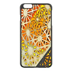Abstract Starburst Background Wallpaper Of Metal Starburst Decoration With Orange And Yellow Back Apple Iphone 6 Plus/6s Plus Black Enamel Case