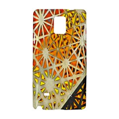 Abstract Starburst Background Wallpaper Of Metal Starburst Decoration With Orange And Yellow Back Samsung Galaxy Note 4 Hardshell Case
