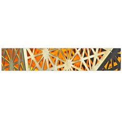 Abstract Starburst Background Wallpaper Of Metal Starburst Decoration With Orange And Yellow Back Flano Scarf (large) by Nexatart