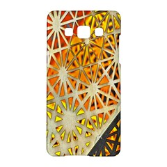 Abstract Starburst Background Wallpaper Of Metal Starburst Decoration With Orange And Yellow Back Samsung Galaxy A5 Hardshell Case