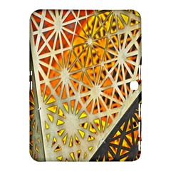 Abstract Starburst Background Wallpaper Of Metal Starburst Decoration With Orange And Yellow Back Samsung Galaxy Tab 4 (10 1 ) Hardshell Case