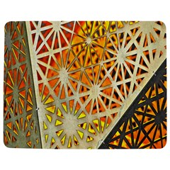 Abstract Starburst Background Wallpaper Of Metal Starburst Decoration With Orange And Yellow Back Jigsaw Puzzle Photo Stand (rectangular) by Nexatart