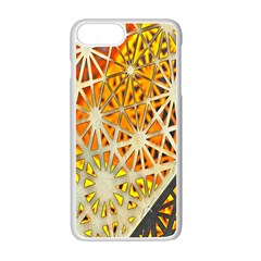 Abstract Starburst Background Wallpaper Of Metal Starburst Decoration With Orange And Yellow Back Apple Iphone 7 Plus White Seamless Case