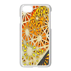 Abstract Starburst Background Wallpaper Of Metal Starburst Decoration With Orange And Yellow Back Apple Iphone 7 Seamless Case (white)
